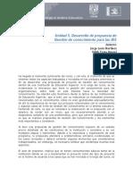 Desarrollo de propuesta de Gestión de conocimiento para las IES