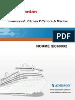 Norme IEC60092 Câbles Offshore & Marine
