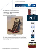 How to Determine Digital Multimeter Accuracy