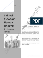 Critical Views on Human Capital