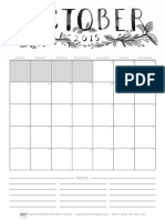 Happiness Is_Calendar October 2015_bw