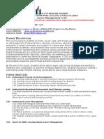 career management syllabus tier ii