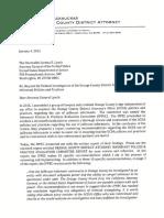 Letter to U.S. Attorney General from OCDA Tony Rackauckas