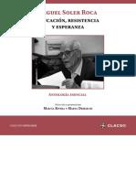 Miguel Soler Roca. Educación, Resistencia y Esperanza