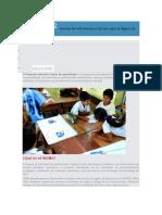 Sigma Sistema de Información y Gestión Para La Mejora de Los Aprendizajes