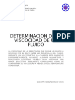 Determinacion de la viscosidad