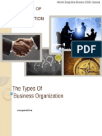 THE TYPES OF BUSINESS ORGANIZATION