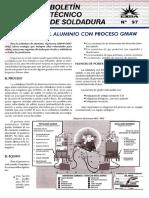Bol97 Soldadura en Aluminio Con Proceso Gmaw