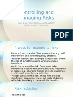 Controlling and Managing Risks