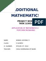 Add Maths Project Popcorn 2015