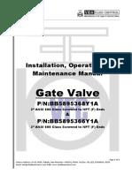 Gate Valve Installation Operation & Maintenance Manual