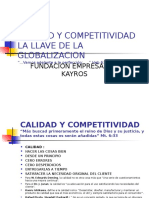 Ayudas Calidad y Competitividad