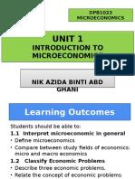 DPB1023 Unit 1 Introduction to Microeconomics