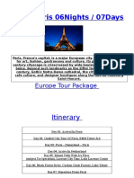 Swiss Paris 06Nights / 07Days
