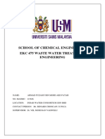 Ekc 475 Waste Water Treatment Engineering Project