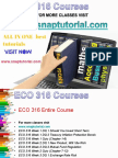 ECO 316 Academic Success /snaptutorial