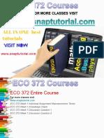ECO 372 Academic Success /snaptutorial