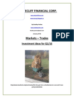 Markets Report #3 - JAN 2016