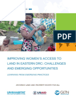 Improving Women's Access to Land in Eastern DRC