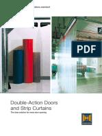 Double action doors