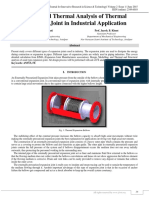 Design and Thermal Analysis of Thermal Expansion Joint in Industrial Application