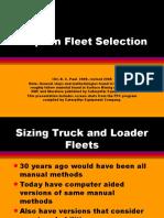 Steps in Fleet Selection