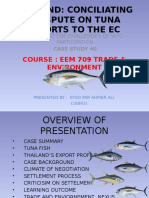 Case Study (WTO _Thailand Tuna Fish)