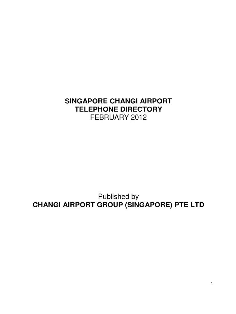 Telephone Directory Cag Cargo Airport Kopi Keong Mas