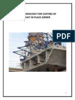 Methodology for Cast in Place Girder Casting