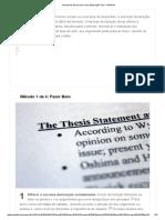 4 Maneiras de Escrever Uma Declaração Tese - WikiHow