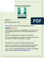 Business English Ace Radio - Episode 031 - Class Notes