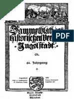 Sammelblatt Des Historischen Vereins Ingolstadt Bd. 046 (1927) (Ocr)