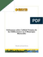 Ordenanza Sobre Calidad Termica de Las Edificaciones en el Municipio Maracaibo,Edo.Zulia - Venezuela.