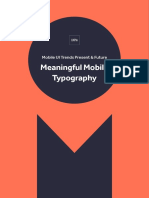Mobile UI Trends Present & Future - Meaningful Mobile Typography