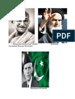 Mohandas Karamchad Gandhi Ayatollah Rouhollah Mousari Khomeini