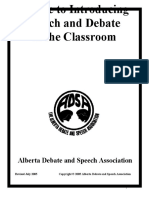 ADSA Intro Debate Into the Classroom 1