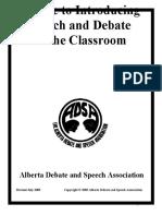 ADSA Intro Debate Into the Classroom 1