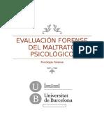 Evaluación Forense Maltrato Psicologico