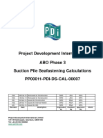 Typical Suction Pile Seafastening Calculation Sheet
