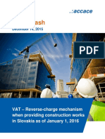 VAT – Reverse-charge mechanism when providing construction works in Slovakia as of January 1, 2016 | News Flash