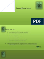 Information Considerations