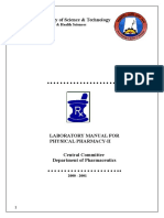 Physical pharmacy I-II sem JNTUK Lab manual