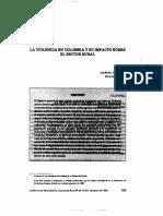 Machado, La Violencia en Colombia y Su Impacto en La Sector Rural