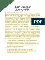 MenMenambahkan Dukungan PostgreSQL Ke XAMPPambahkan Dukungan PostgreSQL Ke XAMPP