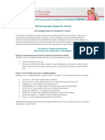 ACR Fibromyalgia Diagnostic Criteria