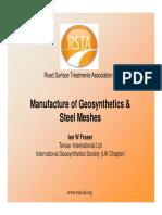 Manufacture of Geosynthetics & Steel MeshesSteel Meshes