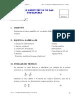 Exp 07 Calores Especificos de las sustancias
