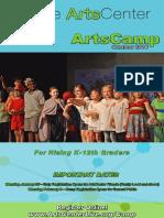 ArtsCamp 2016 Brochure