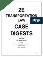 Trasnportation Law Case Digests 1