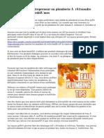 Découvrez un entrepreneur en plomberie à résoudre efficacement vos problèmes